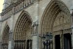 Catedral de Notre Dame, Paris, detalhe da fachada