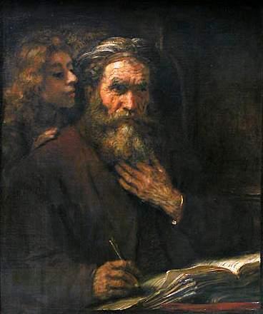 Rembrandt, São Mateus e o anjo, 1661