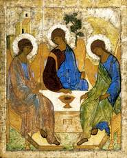 Andrej Rublev: 'Holy Trinity', icon of 1425;