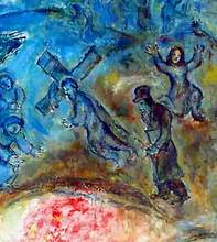 Marc Chagall, The Sacrifice of Isaac (detail), 1960-1966, oil on canvas, 230 x 235 cm, Musée national Message Biblique Marc Chagall, Nice, France