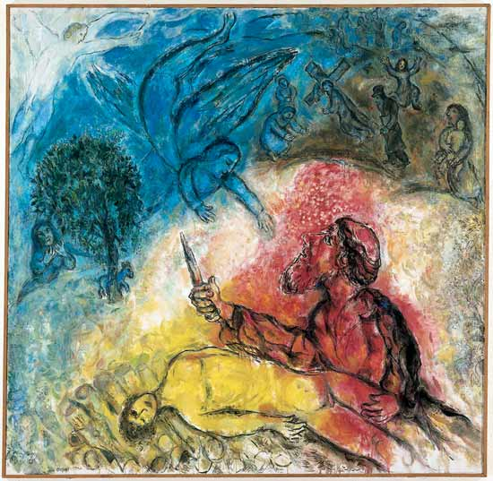 Marc Chagall, The Sacrifice of Isaac, 1960-1966, oil on canvas, 230 x 235 cm, Musée national Message Biblique Marc Chagall, Nice, France