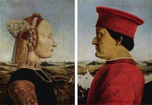 Piero della Francesca: 'The Duke and Duches of Urbino' (Battista Sforza and Federico II da Montefeltro), 1472