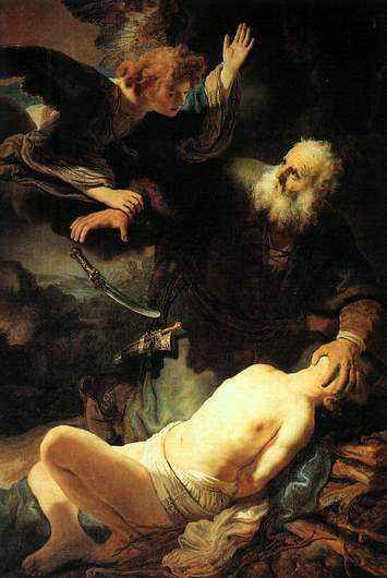 "Rembrandt, ""The Sacrifice of Abraham"", 1635"