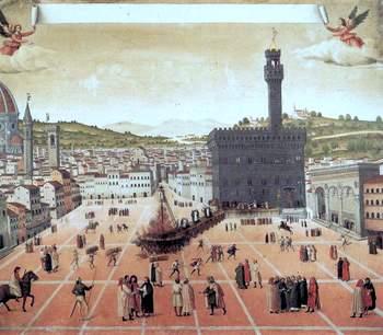 Savonarola's execution in Florence, 1498